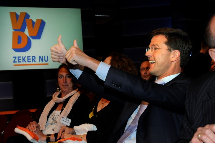 VVD Congres in Papendal. mark Rutte
